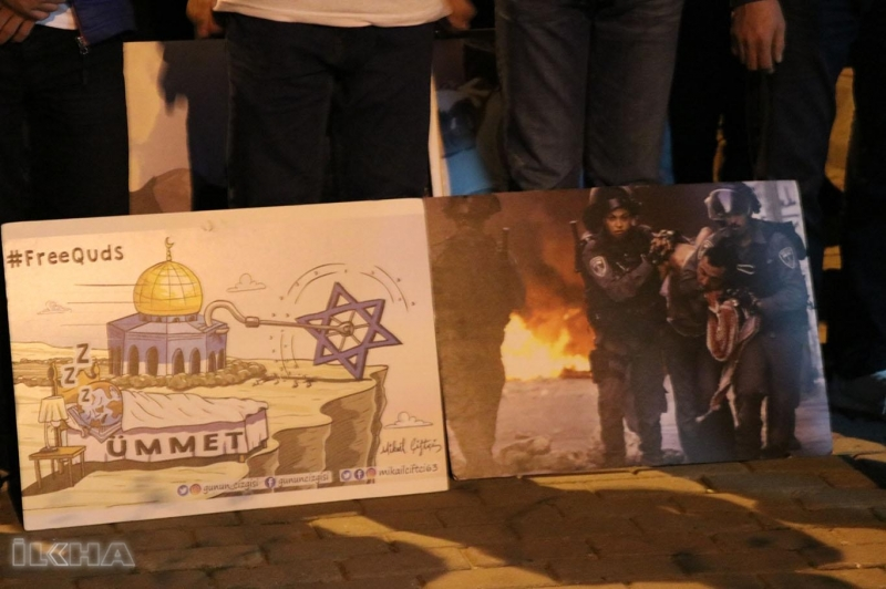 Siyonistlerin saldırıları sonucu Gazze'de şehit olanlar için İstanbul'da gıyabi cenaze namazı kılındı.