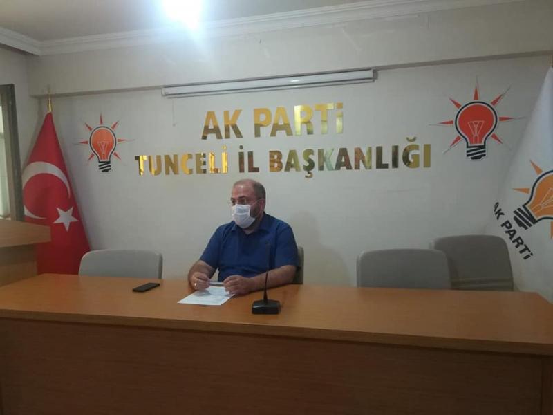 Akparti Tunceli İl Başkanı trafik kazası geçirdi