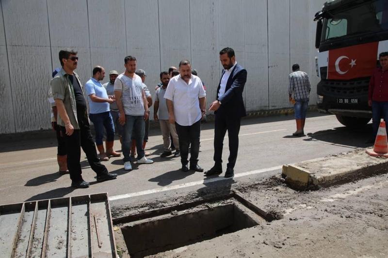 Belediye başkanı Afetten etkilenen yerleri gezdi