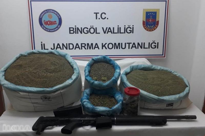 Bingöl'de uyuşturucu operasyonu: 61 gözaltı