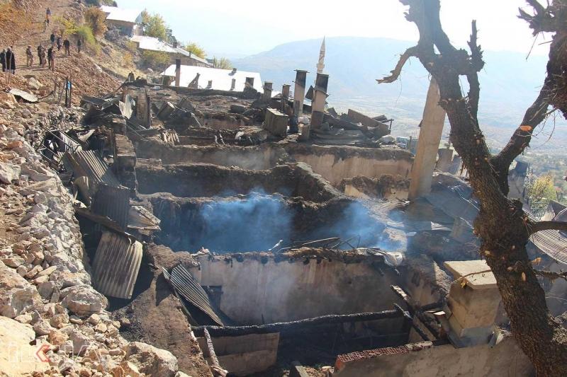 HÜDA PAR Elazığ İl Başkanlığından evleri yanan köylülere ziyaret