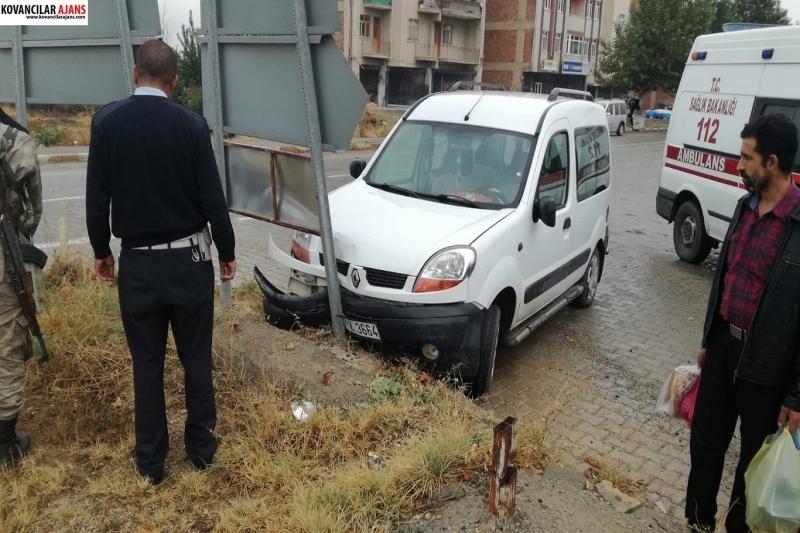 Kovancılar`da Kaza: 1 Yaralı