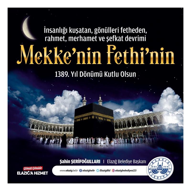 Şerifoğulları'ndan Mekke'nin Fethinin yıl dönümü mesajı